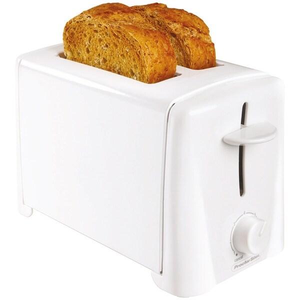 Proctor Silex 22611 Durable 2-Slice Toaster, White