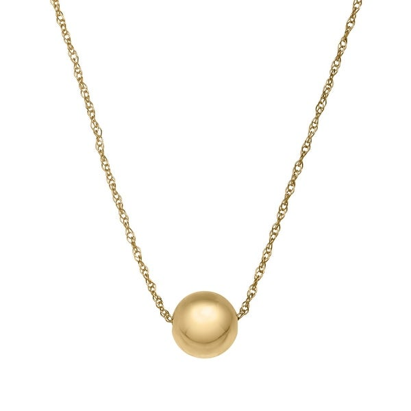 Just Gold 8 mm Golden Bead Pendant in 10K Gold