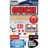 "Doctor - Signature Dimensional Stickers 4.5""X6"" Sheet"