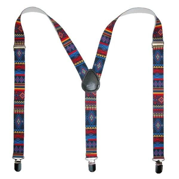 CTM® Women's Elastic Aztec Pattern Suspenders - one size