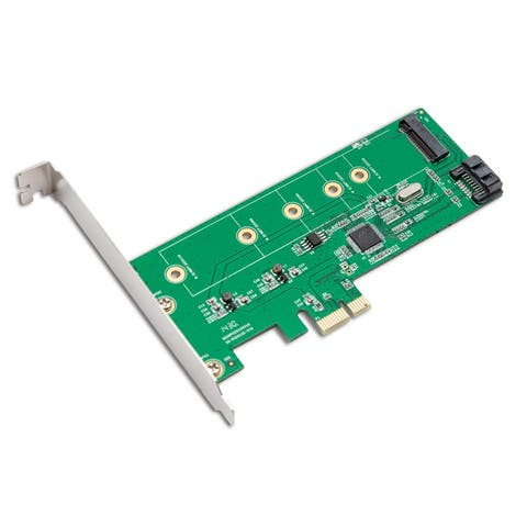 Syba SI-PEX50065 Low Profile Ready PCIe M.2 SATA III HDD/SSD Adapter Card