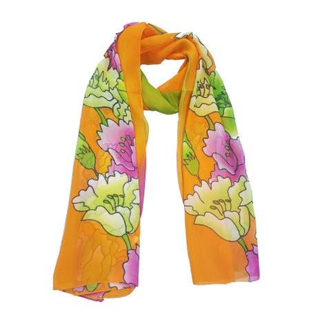 Fashion Chiffon Print Scarf Lightweight And Soft