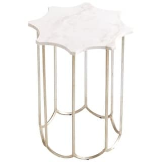 """Cyan Design 8823 Stardust 20"""" Tall X 25"""" Wide Iron and Marble Accent Table"""