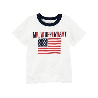 Carter's Baby Boys' Mr. Independent Fourth Of July Ringer Tee, 6 Months