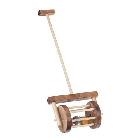 Walnut and Maple Block Roller Toy - Walnut/Maple