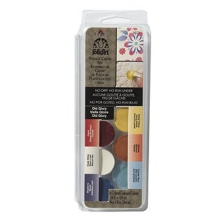 FolkArt Stencil Creme Set, 34121 Old Glory