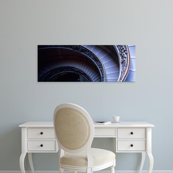 Easy Art Prints Panoramic Images's 'Spiral Staircase, Vatican Museum, Rome, Italy' Premium Canvas Art
