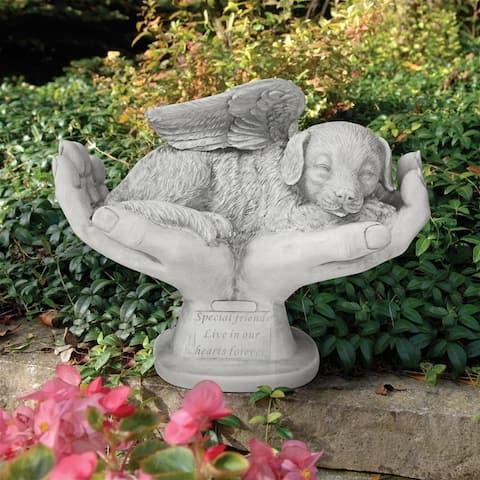 Dog In Gods Hands Pet Memorial Statue