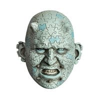 Enigma Latex Costume Mask - Blue