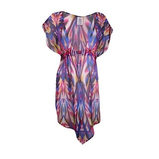 Becca by Rebecca Virtue Women's Sheer Printed Coverup
