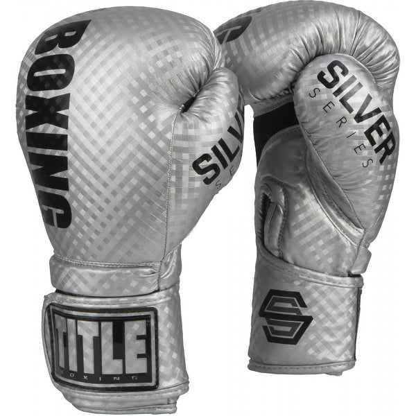 Title Boxing Silver Series Stimulate Hook and Loop Bag Boxing Gloves