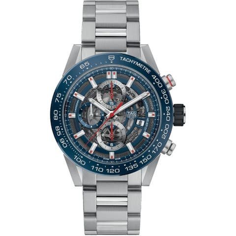 Tag Heuer Men's CAR201T.BA0766 'Carrera' Chronograph Automatic Stainless Steel Watch - Blue