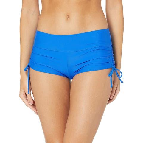 Skechers Womens Core Solids Swim Separates (Tops & Bottoms),, Blue, Size Medium