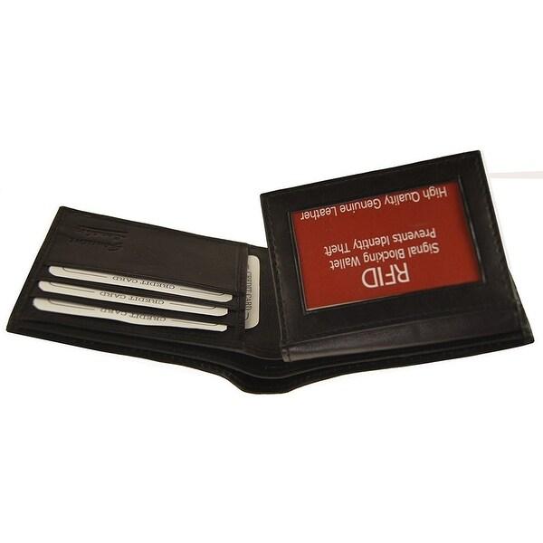 RFID Improving Lifestyles Mens Leather Wallet Bifold Black SUNRFID1203BK