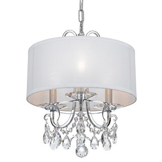 Link to Othello 3 Light Clear Crystal Polished Chrome Mini Chandelier - 15'' W x 15'' H Similar Items in Chandeliers