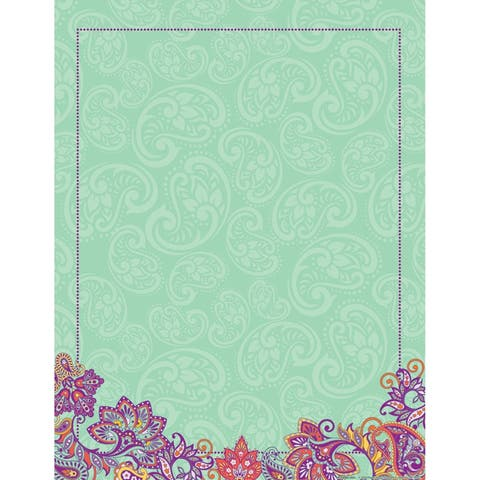 """Positively Paisley Blank Chart, 17"""" x 22"""""""