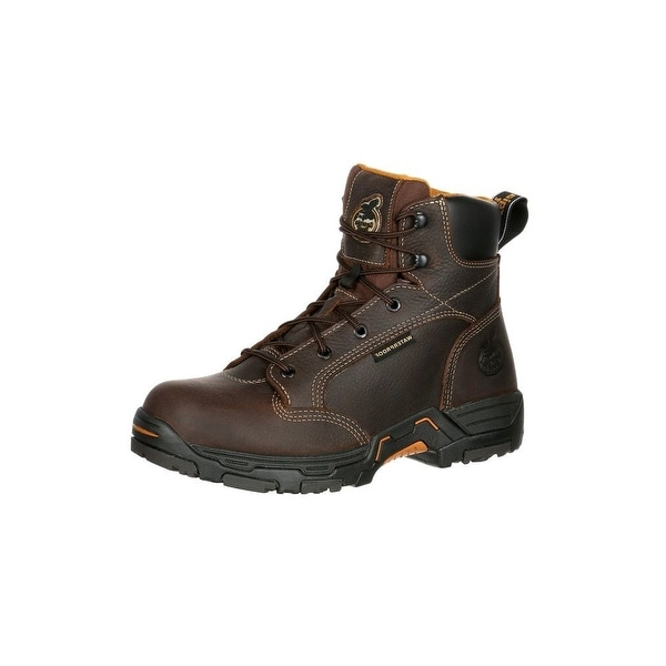 Georgia Boot Work Men Diamond Trax Waterproof Insulated Brown