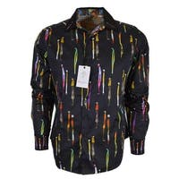Robert Graham MANSART Elongated People Pattern Cotton Classic Fit Shirt