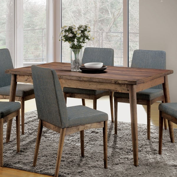 Furniture of America Sevo Midcentury Modern Brown 59-inch Dining Table. Opens flyout.