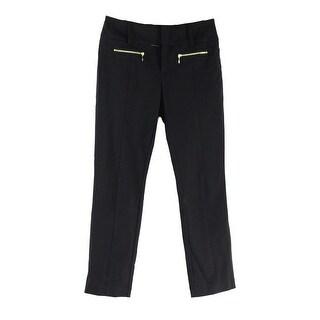 INC NEW Black Gold Women's Size 12 Straight Leg Ankle Dress Pants