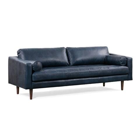 Poly and Bark Napa Tan Leather Sofa