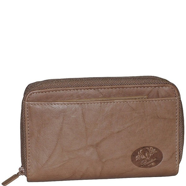 Buxton Heiress Double Zip Organizer Wallet, One Size