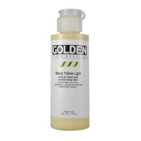 Golden - Fluid Acrylic - 4 oz. Bottle - Yellow Ochre