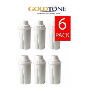 (6) GoldTone Charcoal Water Filters for BRITA and MAVEA - Replacement Water Pitcher Filter