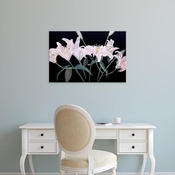 Easy Art Prints Sandra Iafrate's 'Dramatic Lilies' Premium Canvas Art