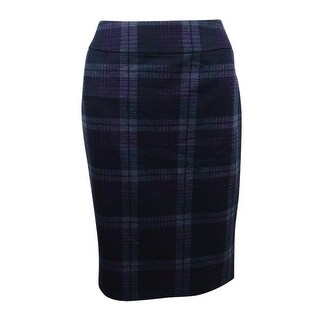 Nine West Women's Stretch Slim Skirt - Wine Multi