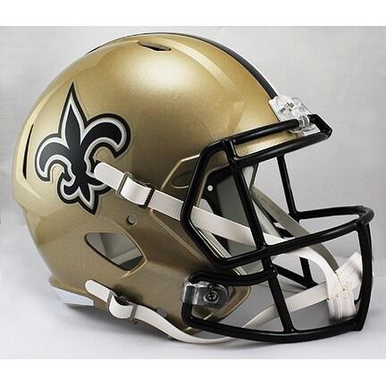 New Orleans Saints Riddell Full Size Deluxe Replica Speed Football Helmet