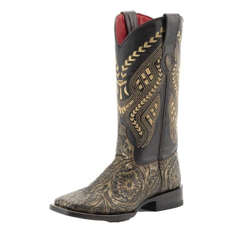 Ferrini Western Boots Womens Cleopatra Embossed Gold