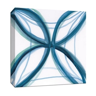 """PTM Images 9-147805  PTM Canvas Collection 12"""" x 12"""" - """"Bold Blue I"""" Giclee Patterns and Designs Art Print on Canvas"""