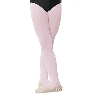 Danshuz Womens Ballet Pink Comfortable Nylon Stretch Tights A-D