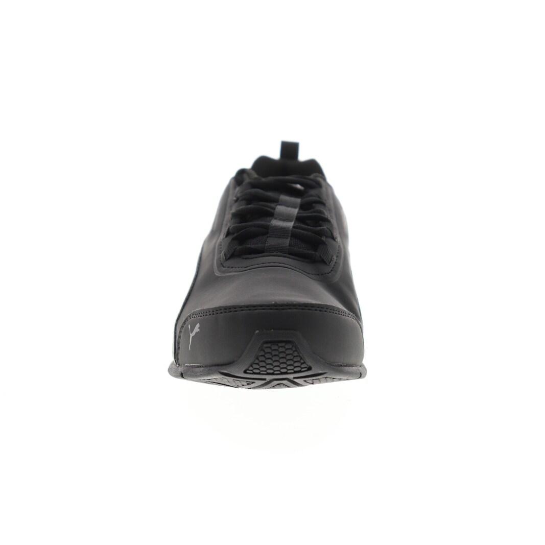 Puma Leader VT Buck Black Asphalt Mens Athletic Running Shoes
