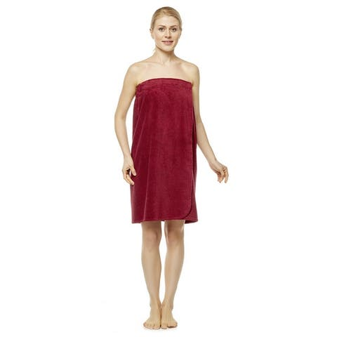 Women's Turkish Terry Cotton Bath and Shower Towel Wrap