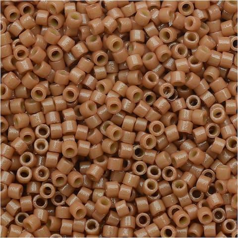 Miyuki Duracoat Delica, Japanese 11/0 Seed Beads, 7.2g Tube, Opaque Cedar Brown DB2107
