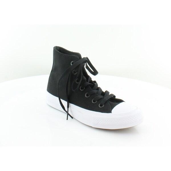 acf2c9b5d89142 Shop Converse Chuck Taylor II Hi Women s Fashion Sneakers Black - 6 ...