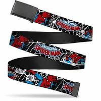 Marvel Comics blank Black  Buckle Spider Man In Action2 W Amazing Web Belt