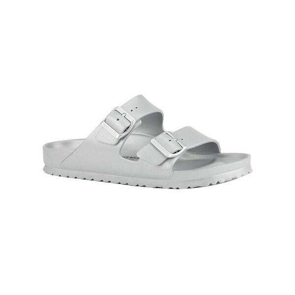 775c70385a97 Birkenstock Unisex Arizona Essentials Eva Metallic Silver Sandals - 40  Narrow Eu