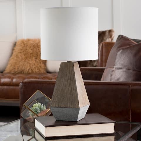 Aviram Distressed Farmhouse Table Lamp