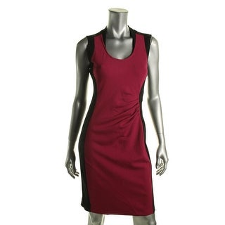 Kenneth Cole New York Womens Helice Colorblock Sleeveless Wear to Work Dress