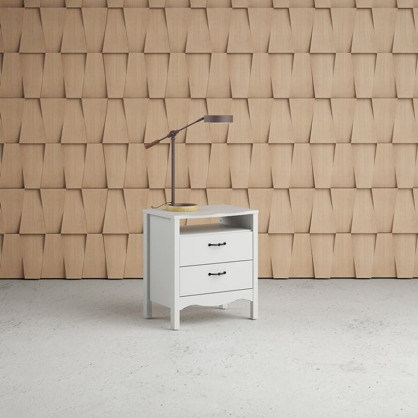 Copper Grove Schwartau White 2-drawer Nightstand. Opens flyout.