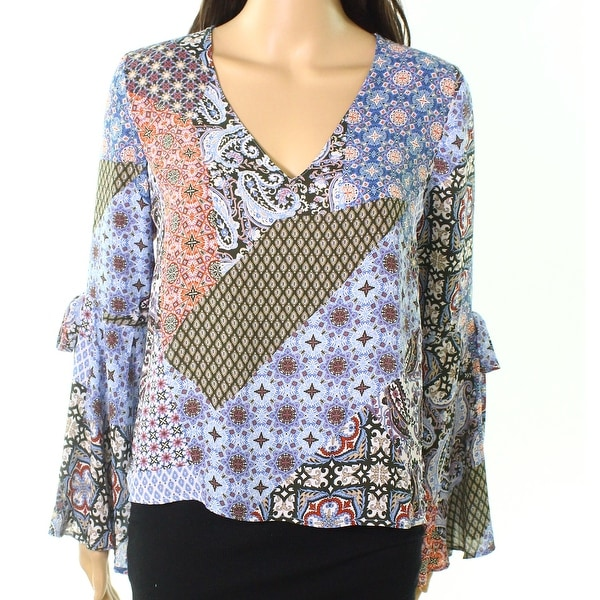 Shop Lush Womens Large Paisley-Print Bell-Sleeve Blouse - On Sale - Free  Shipping On Orders Over  45 - Overstock - 26986569 4f1259e1d