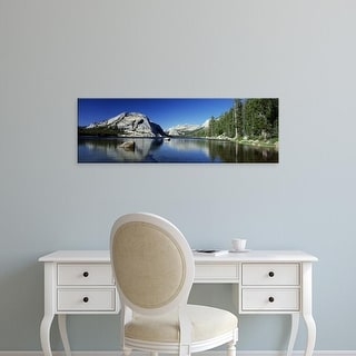 Easy Art Prints Panoramic Image 'Rocks in water, Half Dome, Yosemite National Park, California' Canvas Art