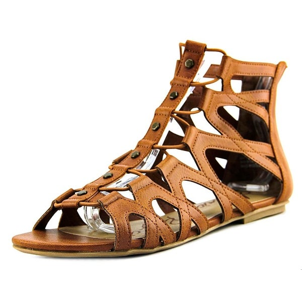 American Rag Aromil Women Open Toe Synthetic Tan Gladiator Sandal