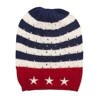 USA Stars and Stripes Cuffless Knit Beanie