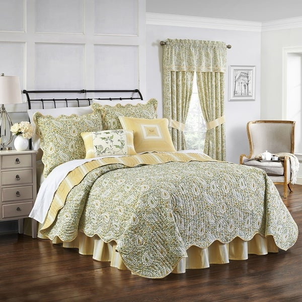 Waverly Paisley Verveine Multi Piece Quilt Set. Opens flyout.