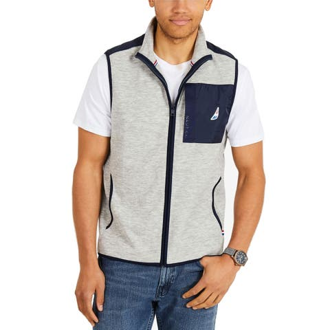 Nautica Mens Jacket Medium Full-Zip Stand Collar Vest