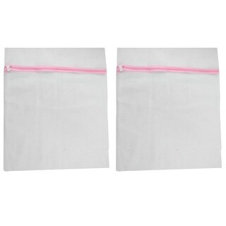 Household Underwear Lingerie Laundry Clothes Washing Bag White Pink 2 Pcs